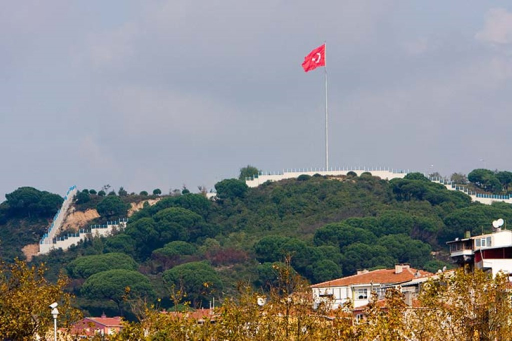 Turkish Flag In Top